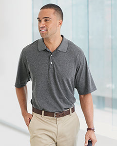 Devon & Jones Pima-Tech Pique Heather Polo