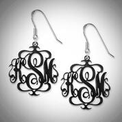 Monogram Earrings in Acrylic
