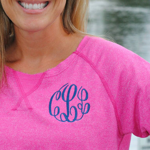 Monogrammed Ladies French Terry Sweatshirt - Available in Several Colors!