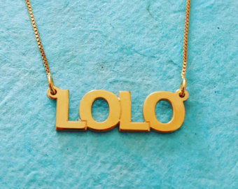 Sterling Silver All Capitals Name Necklace