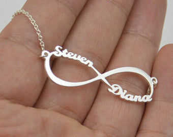 Infinity Necklace with 2 Names