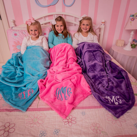 Monogrammed Super Soft Blanket