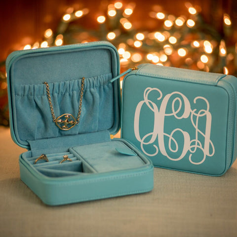 Personalized Hardside Jewelry Case