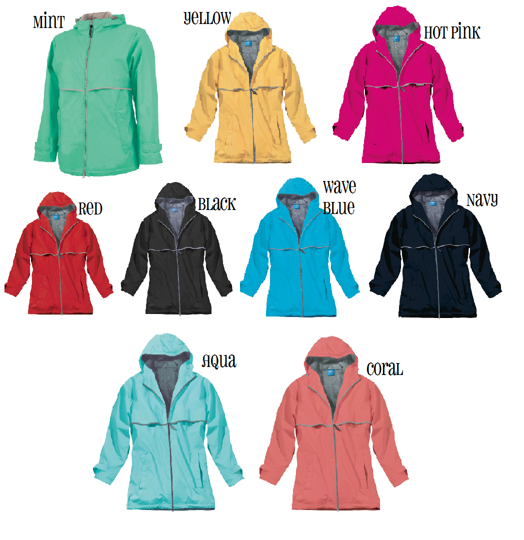 Monogrammed Women&39s Rain Jacket - Many Colors Available