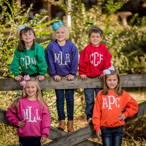 Personalized Sweatshirt - Youth - Available in 11 Colors!
