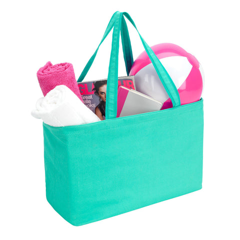 Monogrammed Carry-All Tote in Three Solid Colors