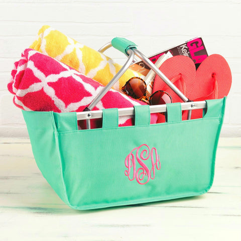 Monogrammed Solid Market Tote - Available in Several Colors!