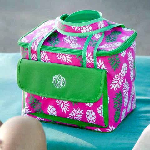 Monogrammed Cooler Bag in Five Patterns