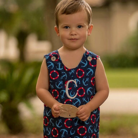 Monogrammed Nautical Shortall