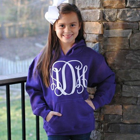 Personalized Hoodie Sweatshirt - Youth - Available in 24 Colors!
