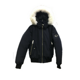 ARCTIC CANADA FRANCE<br>80%Duvet avec Vraie Fourrure<br>Manteau d'hiver<br>Noir- Bleu|ARCTIC CANADA FRANCE<br>80% Down with Genuine Fur<br>Winter Coat<br>Black- Blue
