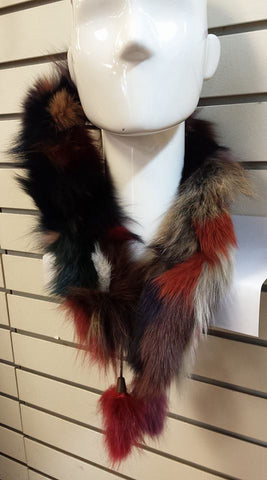 Foulards en Vraie Fourrure Multi couleur|Multi colored Genuine Fur Scarf