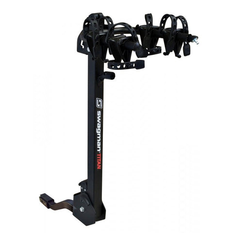 SWAGMAN TITAN 2<br> 1 à 2 vélos <br>Adaptable sur 1 1/4'' ou 2'' boule d'attelage |SWAGMAN TITAN 2<br>1 to 2 Bike rack<br> adaptable to 1 1/4'' or 2'' hitch