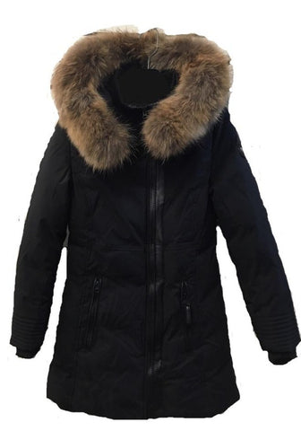 OXYGEN ALICIA <br>50% Duvet avec Vraie Fourrure<br>Manteau d'hiver|OXYGEN ALICIA<br>50% Down with Genuine Fur<br>Winter Coat