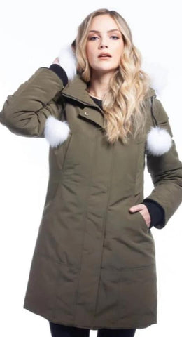 ARCTIC NORTH CALGARY<br>80% Duvet et Vraie Fourrure<br>Manteau d'hiver<br>Choix de couleurs |ARCTIC NORTH CALGARY<br>80% Down with Genuine Fur<br>Winter Coat<br> choice of colors