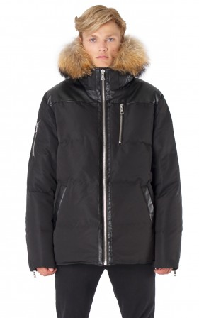 POINT ZERO BLK DUNCAN<br> 80% Duvet avec Vraie Fourrure<br>Manteau d'hiver<br>|POINT ZERO DUNCAN <br> 80% Down with Genuine Fur<br>Winter Coat<