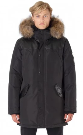 POINT ZERO BLK XAVIER<br> 80% Duvet avec Vraie Fourrure<br>Manteau d'hiver<br>|POINT ZERO XAVIER <br> 80% Down with Genuine Fur<br>Winter Coat<