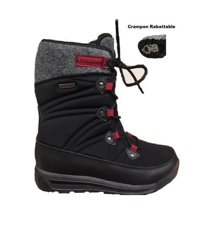 NEXX ICE WONDER HI 2<br>Crampons Rétractables<br>BOTTES D'HIVER<br>TEMP -35°C<br>Noir|NEXX ICE WONDER HI 2<br>Retractable Crampons <br>WINTER BOOTS<br>TEMP -35°C <br>Black