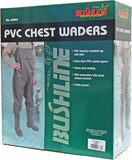Bottes de Pêche en PVC Bushline<br> Vert Kaki<br>Tailles 9 à 13|PVC Chest Waders<br>Olive Green<br>Sizes 9 to 13