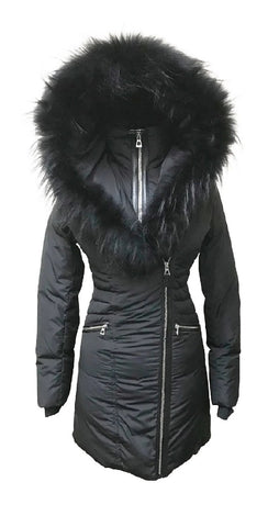 DIAMOND TRAIL SIAN XXL-XXXL<br>Polyfill avec Vraie Fourrure <br>Manteau d'hiver|DIAMOND TRAIL SIANA XXL-XXXL<br>Polyfill and Genuine Fur<br>Winter Coat