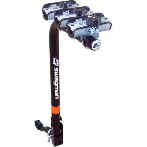 SWAGMAN XP3 INCLINABLE <br> 1 à 3 vélos <br>Adaptable sur 1 1/4'' ou 2'' boule d'attelage |SWAGMAN XP3 FOLDABLE<br>1 to 3 Bike rack<br> adaptable to 1 1/4'' or 2'' hitch