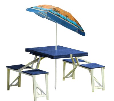 TABLE À PIQUE-NIQUE<br>AVEC PARASOL<br>YANES|PICNIC TABLE<br>WITH UMBRELLA<br>YANES