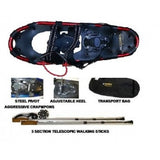 RAQUETTE YANES TWIN PEAKS KIT<br>CAPACITÉ 125 Lbs<br>BATONS et SAC INCLUS|YANES TWIN PEAKS KIT<br>CAPACITY 125 Lbs<br>WITH POLES AND BAG