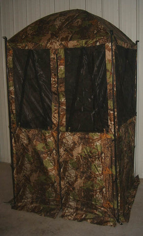 ABRI DE CHASSE<br> CAMOFLAGE|HUNTING TENT CAMOFLAGE<br>4'x4'x7'|TENTE DE CHASSE<br>4'X4'X7'