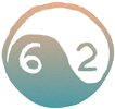 yin yang icon with numbers 62