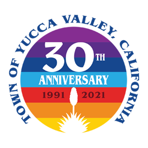 Town of Yucca Valley California 30th Anniversary logo