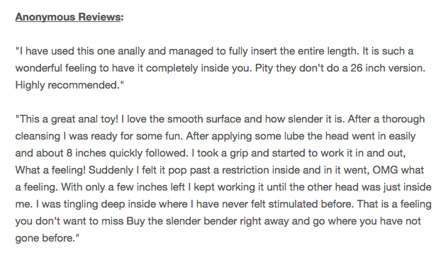 Double Trouble Slender Bender Double Dong reviews