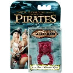 Pirates Jesse Jane's Pleasure Couple's Cock Ring Deep Red - SexToysEstore.com