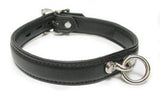 Premium Garment Leather Collar black