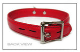 Premium Garment Leather Collar red