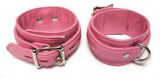 Premium Garment Leather Ankle Cuffs pink