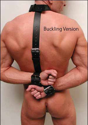 Leather Neck Wrist Restraint