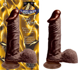 Lifelikes King 9 Inch Suction Cup Straight Dildo black
