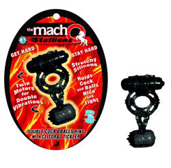 Macho Cock and Ball Ring W/Clit Tickler - SexToysEstore.com