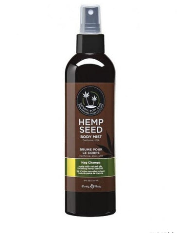 Earthly Body Nag Champa Hemp Seed Moisturizing Body Mist 8 oz - SexToysEstore.com