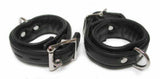 Premium Garment Leather Wrist Cuffs black
