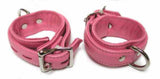 Premium Garment Leather Wrist Cuffs pink