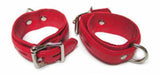 Premium Garment Leather Wrist Cuffs red