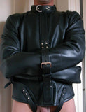 Stockroom Premium Leather Straitjacket black front