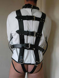 Stockroom Premium Leather Straitjacket white back