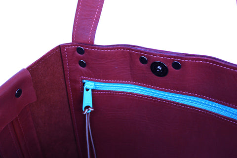 Audrey Tote in Rust Leather