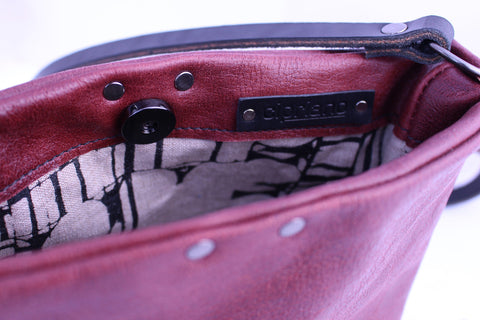 Aleks Crossbody in Burgundy Leather - Limited Edition