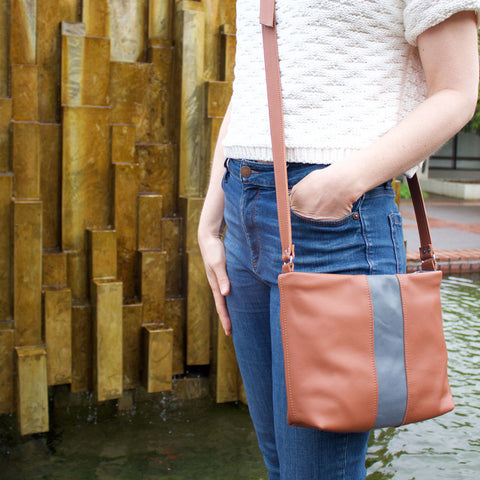 Lucca Purse in Brown Leather