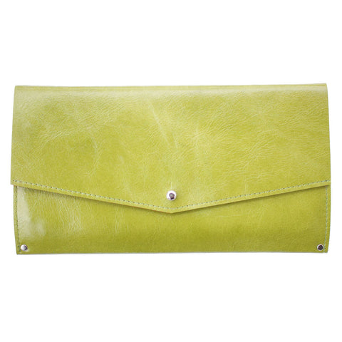 Mae Wallet in Green Leather