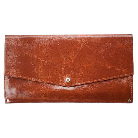 Mae Wallet in Brown Leather