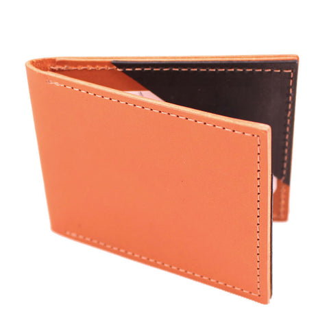 Fin Fold in Golden Brown Leather